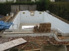 Successful concrete pour, bracing dismantled