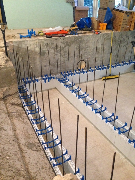Pool Wall Starter Bars Fixed Ready For Pool Build