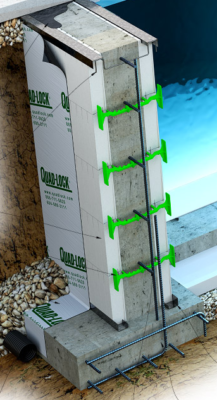 Quadlock Pool Wall Section