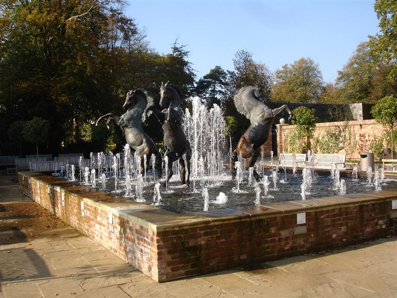 Water Feature Four Life Size Horses North Yorkshire Brookforge Swimming Pool Build