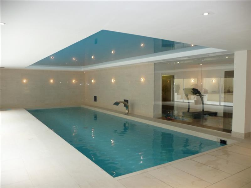 Indoor Pool With Water Curtain