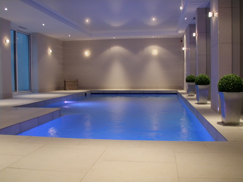 Luxury indoor basement pool alderley edge brookforge Basement swimming pool construction