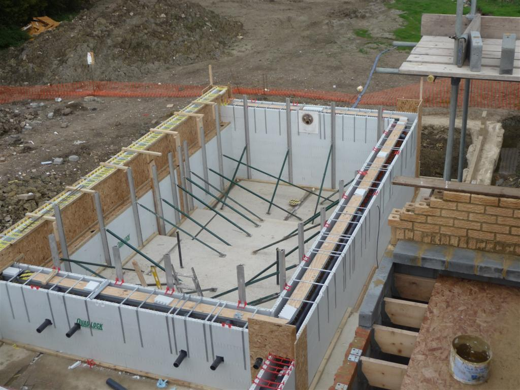 Indoor insulated overflow pool cambridgeshire brookforge for Icf pool construction