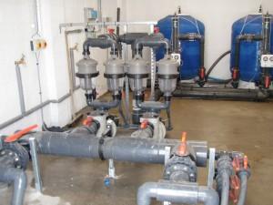 Submarine test tank plantroom