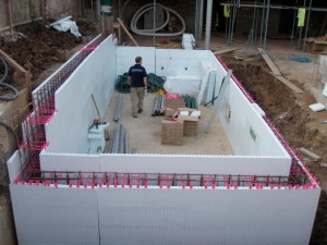 ICF Pool wall construction