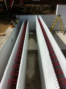 ICF Quadlock during construction