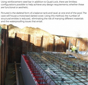 Steel reinforcement in pool cover pit lid