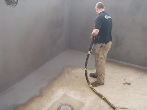 swimming pool spray on waterproof tanking system