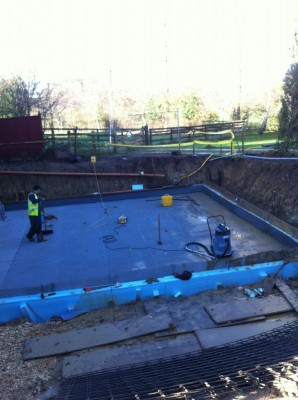 Insulation and Tanking of Concrete Base