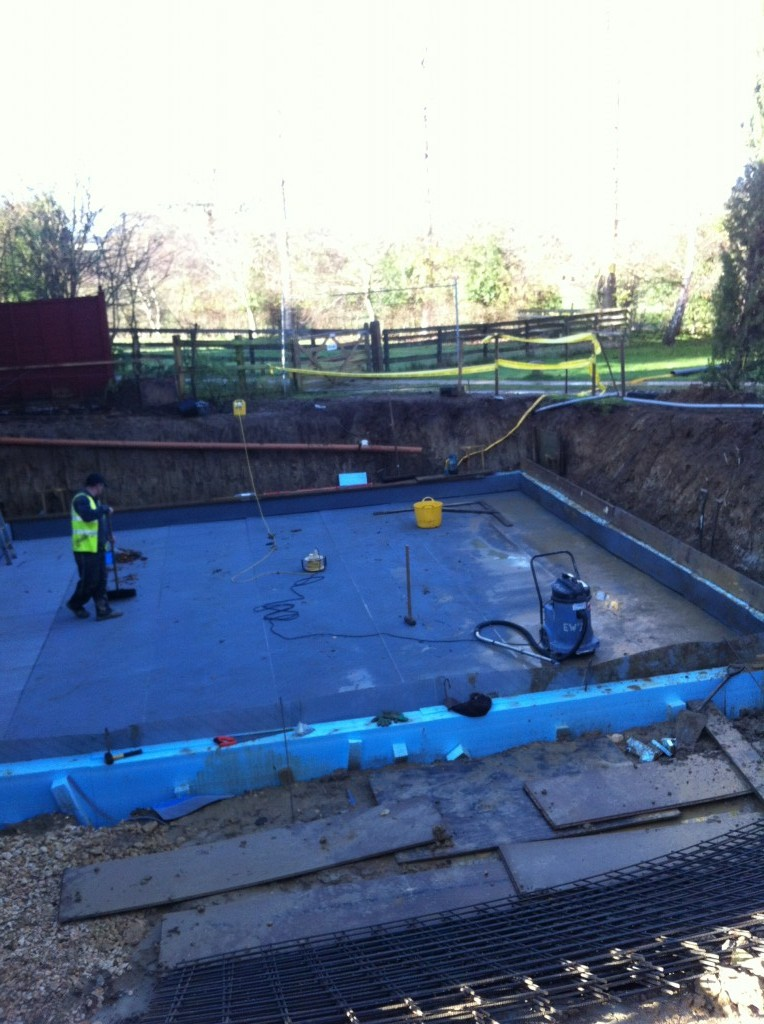 moreton in marsh insulation and tanking the concrete base brookforge swimming pool build