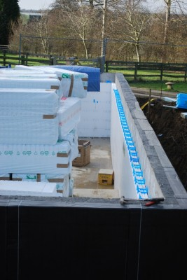 retro-fit swimming pool wall insulation