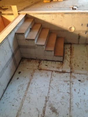 swimming pool steps in ICF pool shell