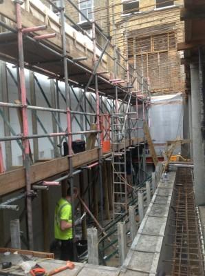 7m high ICF Pool Shell Construction