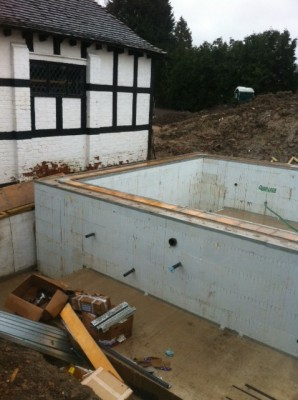 ICF Swimming Pool Build post concrete pour