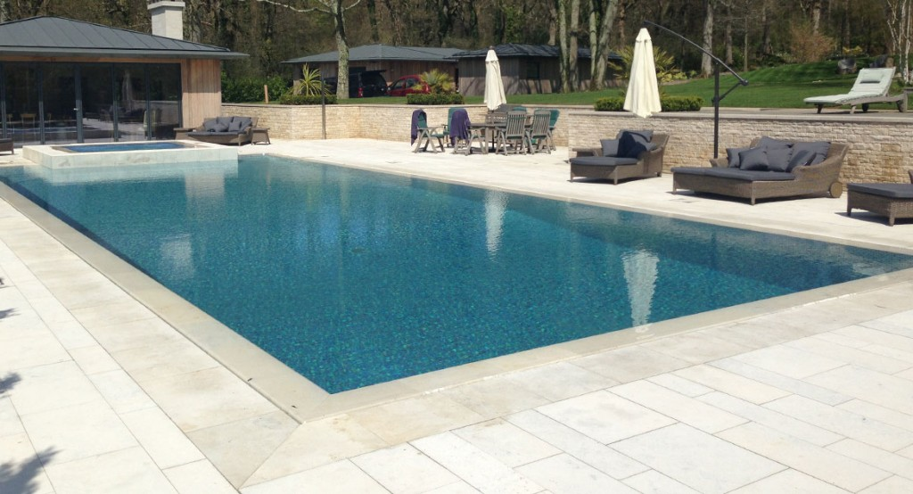 18m Stone Pool And Spa Brookforge Swimming Pool Build