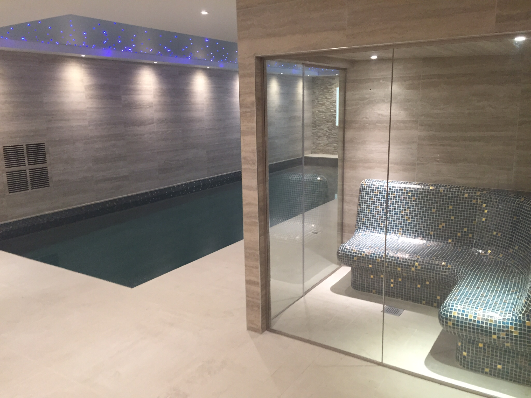 this london basement swimming pool and steam room project was a luxury