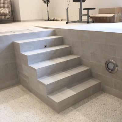 Newly Tiled Pool Steps