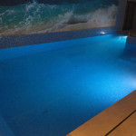 Testing basement pool LED Lights