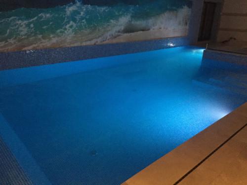 Testing basement pool LED Lights