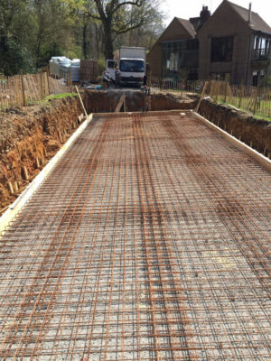 Reinforced Concrete Pool Slab