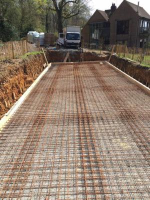 Reinforced Concrete Pool Slab
