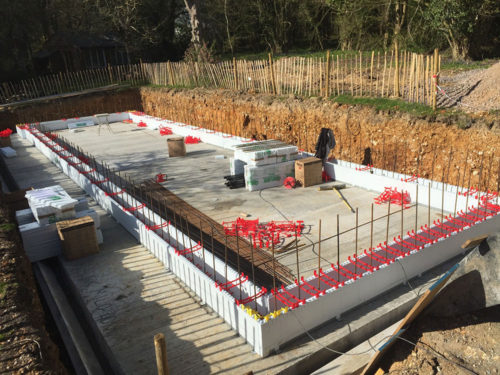 Reinforced Pool Wall Vertical Steels
