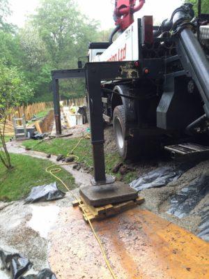 Pool concrete pump