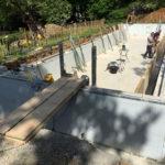 Feature bench shuttering construction