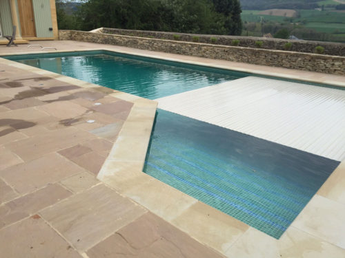 Swimming pool slatted cover refurbishment