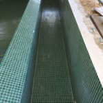 Refurbished swimming pool cover pit