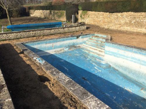 Swimming pool refurbishment before pic