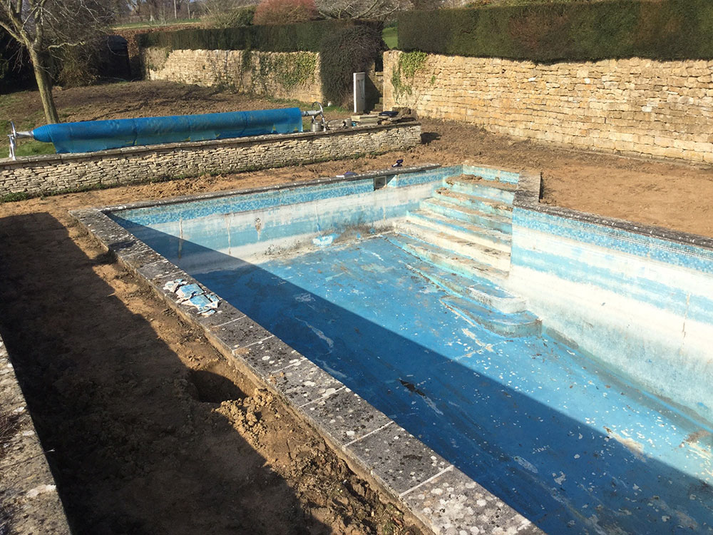 swimming pool refurbishment in the cotwolds complete