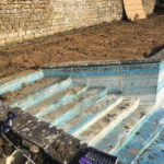 Swimming pool steps refurbishment before pic