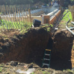 Excavation for balance tank