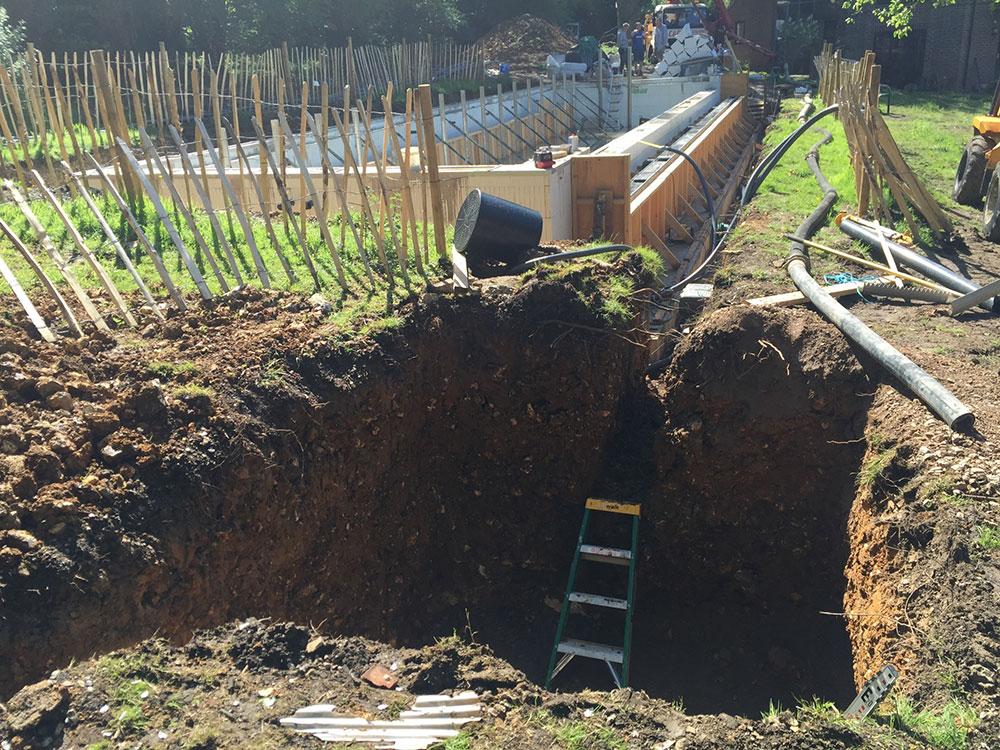 Excavation For Balance Tank Brookforge Swimming Pool Build