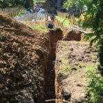 Excavation for balance tank and pipes