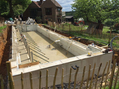 Pool Concrete finished