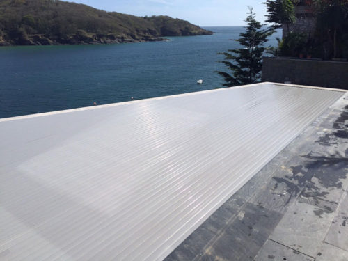 Cliff edge pool
