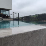 Infinity edge on cliff edge pool
