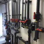 Swimming pool plant room manifolds