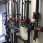 Swimming pool plant room manifolds