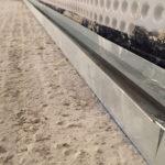 Pool wall quadlock track