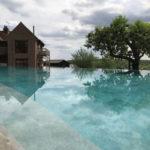 Mirrored infinity pool