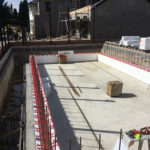 Course two of ICF pool construction