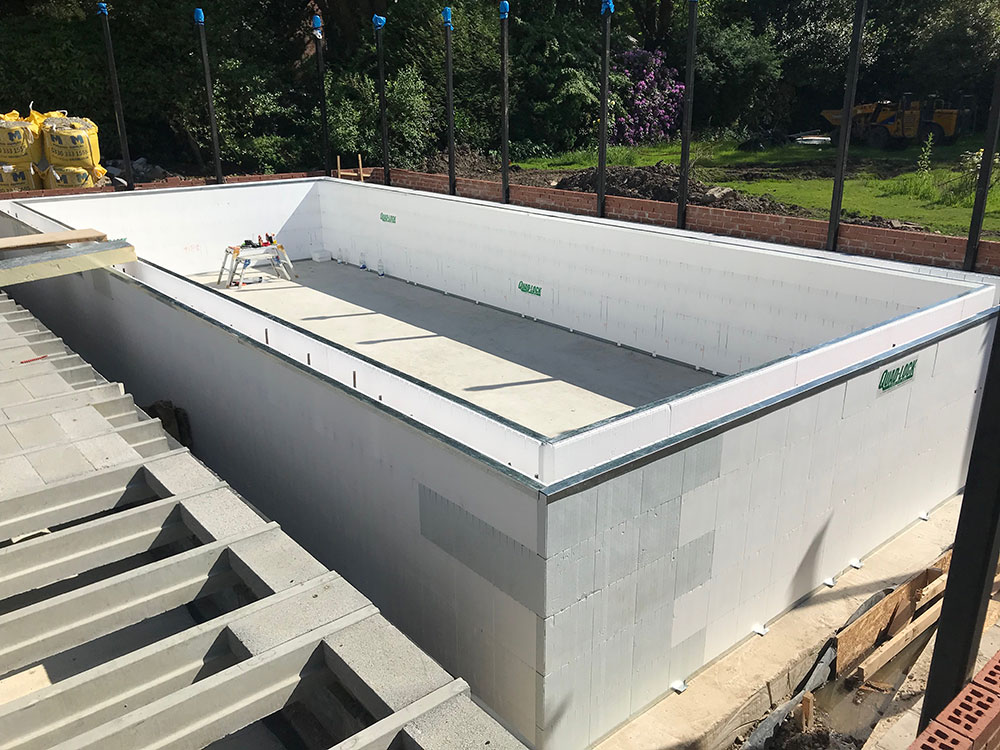 Icf Swimming Pool Shell Is Up In Three Days Brookforge Swimming Pool Build