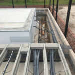 Pool Flexi pipe under floor