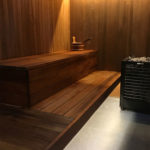 Dark Wood Sauna