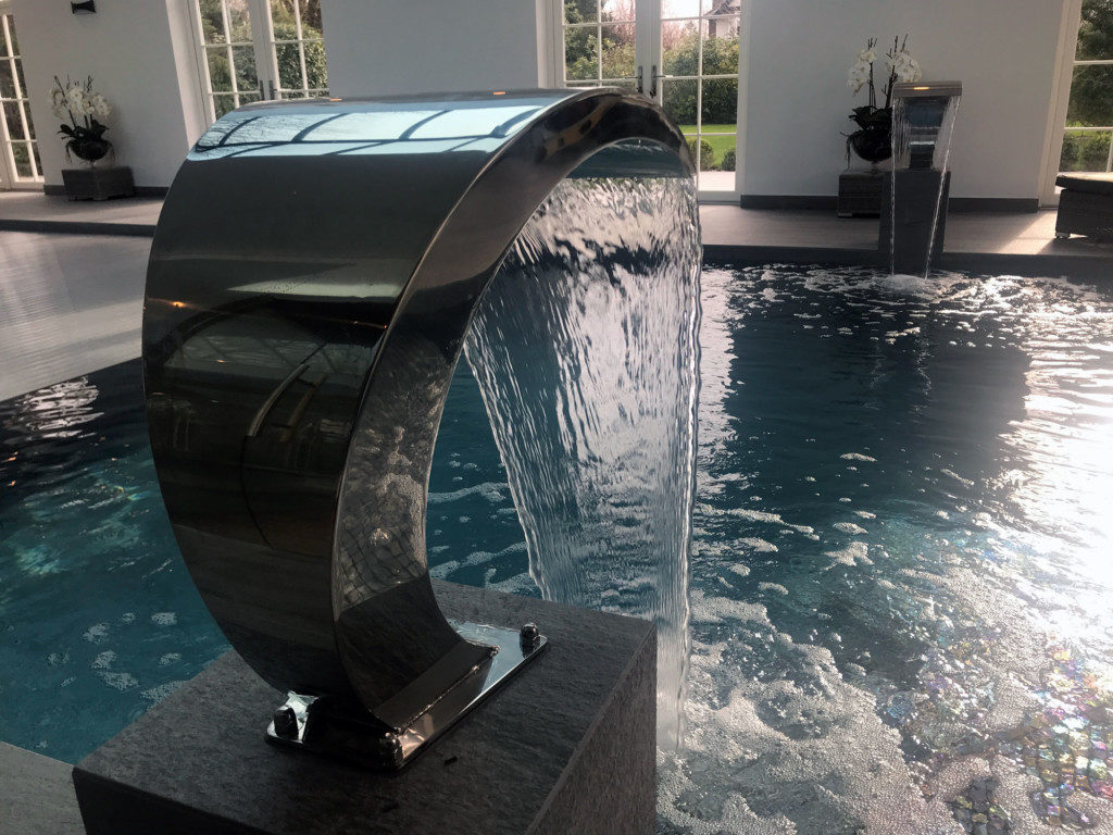 pool water feature fountain