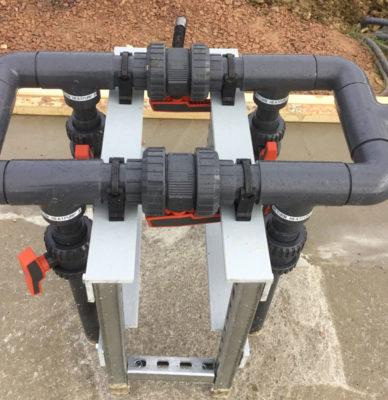 Pool heat pump manifold